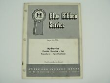 Hydraulics Trouble Shooting Tractors Service Manual International Harvester 1961