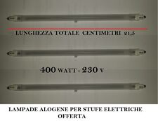 SET 3 PZ LAMPADA 21,5 CM ALOGENA STUFA ELETTRICA 400 W  230V TUBO 198877