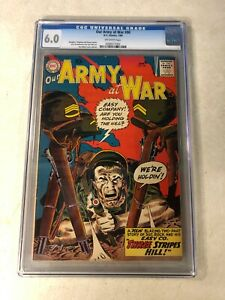 OUR ARMY AT WAR #90 CGC 6.0 KEY ISSUE SGT ROCK gets his STRIPES 1960 KUBERT