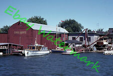 Grew Boat Works Penetanguishene Ontario Wood Boats Cruisers 1962 Agfa 35mm Slide