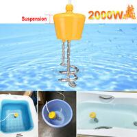 220V 2000W Tauchsieder Reisetauchsieder Wasserkocher Pool Aufblasbar Heizspirale