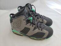 Nike Air Jordan Retro 6 GP Gray & Green Boys Sneakers Size 5.5 Youth  543389-005