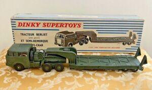 Dinky Toys (France) No. 890 Berliet Tank Transporter Near Mint in Original Box!