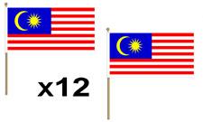 Malaysia Waving Hand Flag 12 Pack Decoration Malaysian Asia National Asian