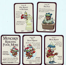 Munchkin Knights Four More Sir Plus, Silent Knight, Weak Knight, Bangkok  - NEW