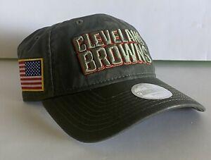 Women's Cleveland Browns Salute To Service 17 Hat NFL New Era 9Twenty Olive RARE
