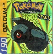 ≈Ω STAKS MAGNET POKEMON ADVANCED (Used) N° 190 BELDUM HOLO