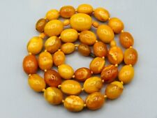 Old, Nice, Real, Antique, Natural Amber Stone Necklace / Chain Collection piece!