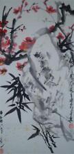 Japanisches Rollbild Kakejiku Kakemono Blumen Japan Roll-Up Geschenk Asia 3996