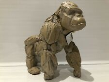 More details for large driftwood style silver back gorilla ape ornament figurine gift present