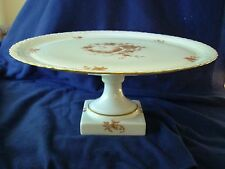 "LIMOGES CAKE DISH ""CHAMART"" CHINOISERIE PRACOCK"