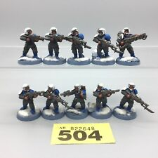 WARHAMMER 40,000 Guardia Imperiale Astra Militarum CADIAN valhallan NEVE DIPINTO