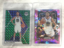 x2 LOT) Klay Thompson 2019-20 Prizm Pink Ice Mosaic Green Silver Non Auto #209