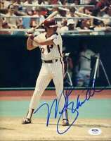 Mike Schmidt Psa Dna Coa Hand Signed 8x10 Photo Autograph