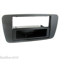 CT24ST09 SEAT IBIZA 2008 to 2014 NITE BLACK SINGLE DIN FASCIA ADAPTER PANEL