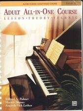 Alfred Basic Adult Piano All In One Level 1 Manus Lethco Palmer Lesson Technic