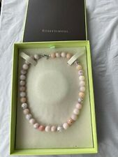 ROSS-SIMONS:PASTEL PINK OPAL BEAD NECKLACE-12MM WITH STERLING SILVER-BRAND NEW!