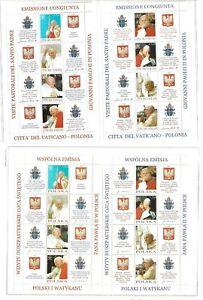 CONGIUNTA VATICANO E POLONIA 4 FOGLIETTI  2004 NUOVO 97 - 5