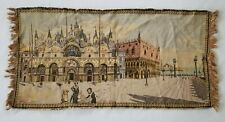 Vintage French Old Scene Wall Hanging Tapestry (93X48cm)