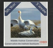 CANADA VanDam Catalogue FWH5 $7.50 SNOW GEESE BOOKLET  MNH F-VF