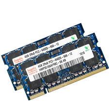For Hynix 8GB (2x4GB) PC2-6400 PC6400S DDR2-800 200p  SODIMM Laptop Module RAM