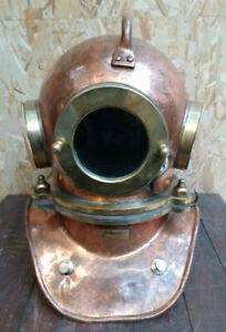 Vintage Maritime Russian 3 Bolt Deep Sea Diving Helmet Authentic Original