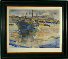 Alexander Barkoff (Helsinki 1870-1942 Athen) Piraeus, 1935.