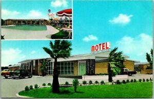 Alexandria, Louisiana Postcard FLEUR de LIS MOTEL Highway 71 Roadside c1950s