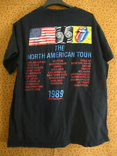 Tee Shirt The Rolling Stones North American Tour 1989 Vintage ancien - M