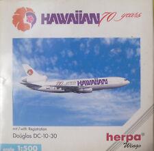 Herpa 500180 douglas dc-10-30 1:500 Hawaiian 70 Years-Wings -