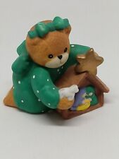 Vintage Lucy & Me Bear-Enesco- 1993 - Girl Playing With Manger - H138