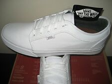 Vans Mens Chukka Low 10 Oz. Canvas White Skate Boat Shoes Size 14 NWT Classic