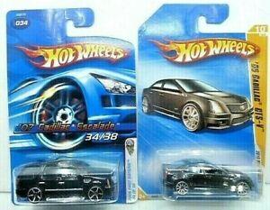 Hot Wheels Cadillac Diecast Car Lot: 07 Cadillac Escalade/09 Cadillac CTS-V NIP