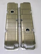 "BBF Ford FE Fabricated Tall Aluminum Valve Covers 1/4"" Billet Rail 360 390 428"