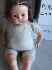 "Vintage 1940s Composition Cloth Baby Girl Character Doll 20"" Tall"