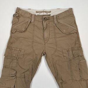 Polo Ralph Lauren (34x34 Slim Fit) Tan Military RL-067 Herringbone Cargo Pant