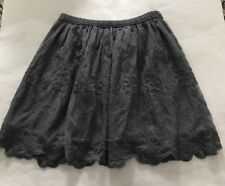 Abercrombie Kids Grey Lace Skirt Size 10