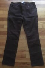 Chicos Womens Brown Jeans Size 1 Short Straight Leg Work Basic Pants
