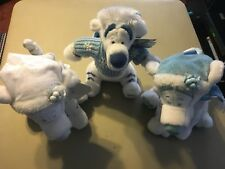Disney set of 3 Stuffed Tiggers Wht/Blue