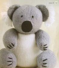 "DK Knitting Pattern Toy Animal Koala Bear 9.5"" In height"