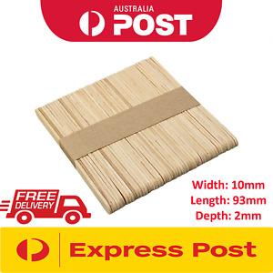 93x10mm Wooden Craft Stick Paddle Pop Popsicle Coffee Stirrers 10-160k pcs bulk