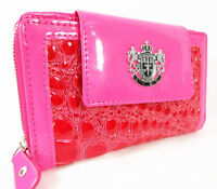 Hot Pink Small LYDC Women LadiesAnimal Print Croc Purse Ladies Clutch Wallet Bag
