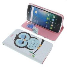 Custodia Per Acer Liquid Z630 Book-Style Protettiva Cellulare a Libro Gufo Blu
