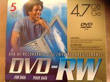 JVC DVD RW High Speed 4X 4.7 GB Data Disc Ver. 1.2 Model VDW47EU5 Discontinued