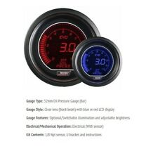 Genuine Prosport Evo 52mm Red Blue Gauge Oil Pressure BAR 0-10