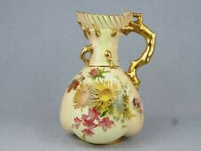 ANTIQUE ROYAL WORCESTER BLUSH IVORY JUG  - CIRCA 1903 -23cm