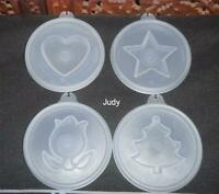 Tupperware Jello Mold ~Jel-N-Serve Seals Flower, Star, Christmas tree and Heart