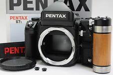 [Mint] Pentax 67 II AE Finder w/ Wood Grip Type II, Box  from Japan ac29701