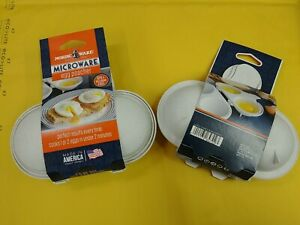 2 pack Nordicware Microwave Double Egg Poachers (64702)