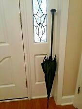 """Antique Edwardian ebony 45.5"""" parasol with double tassel 1910"""